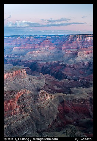 View from Moran Point at dawn. Grand Canyon National Park (color)