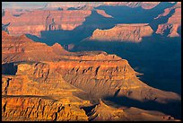 Ridges at sunrise from Moran Point. Grand Canyon National Park ( color)
