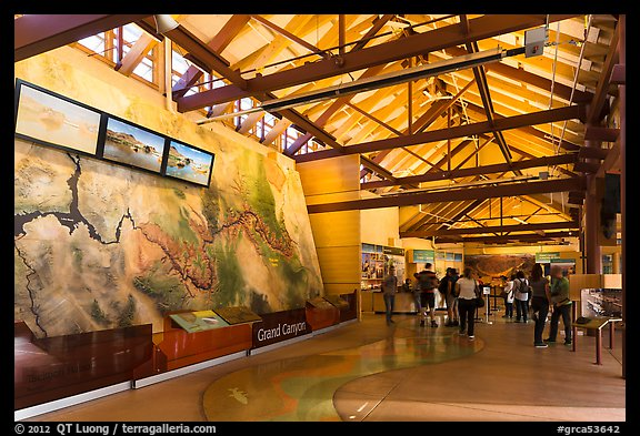 Inside main visitor center. Grand Canyon National Park (color)