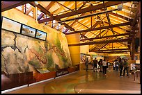Inside main visitor center. Grand Canyon National Park, Arizona, USA. (color)