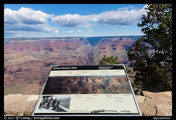 Iinterpretive sign, Mather Point. Grand Canyon National Park (color)