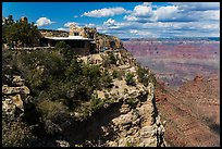 Lookout Studio designed by Mary Coulter to blend with surroundings. Grand Canyon National Park ( color)