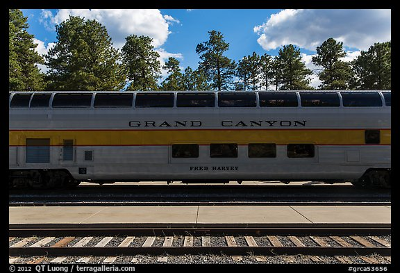 Grand Canyon railway. Grand Canyon National Park (color)
