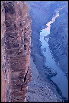 Cliffs and Colorado River, Toroweap. Grand Canyon National Park, Arizona, USA.