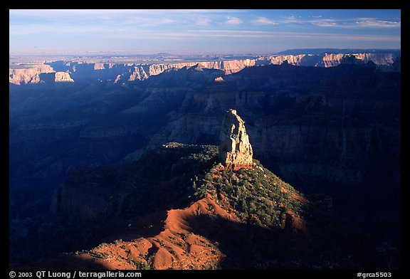 Mount Hayden from Point Imperial, late afternoon. Grand Canyon National Park (color)