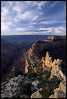 Wotan's Throne seen from Cape Royal, early morning. Grand Canyon National Park ( color)