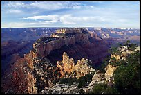 Wotan's Throne seen from Cape Royal, early morning. Grand Canyon National Park, Arizona, USA.