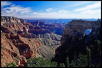 Cliffs and Angel's Arch near Cape Royal, morning. Grand Canyon National Park, Arizona, USA. (color)