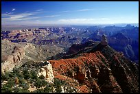 View from Point Imperial, morning. Grand Canyon National Park, Arizona, USA. (color)