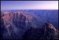View from Point Sublime, dusk. Grand Canyon National Park, Arizona, USA. (color)
