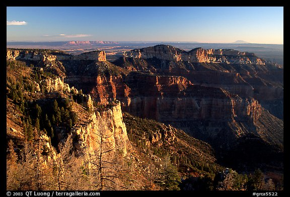 Cliffs seen from Point Imperial at sunrise. Grand Canyon National Park (color)