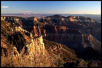Cliffs seen from Point Imperial at sunrise. Grand Canyon National Park, Arizona, USA.