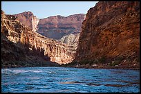 River-level view of Marble Canyon and Colorado River rapids. Grand Canyon National Park ( color)