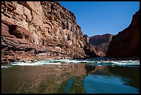 River-level view of glassy waters before rapids, Marble Canyon. Grand Canyon National Park ( color)