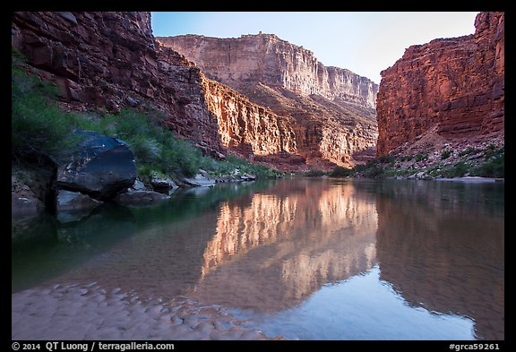 Colorado River in Marble Canyon, early morning. Grand Canyon National Park (color)