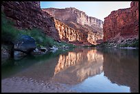 Colorado River in Marble Canyon, early morning. Grand Canyon National Park ( color)