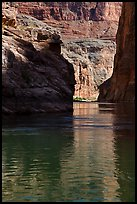 Shadows in cliffs, Marble Canyon. Grand Canyon National Park ( color)
