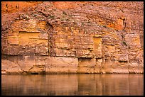 Geometric cliffs and reflections, Marble Canyon. Grand Canyon National Park ( color)