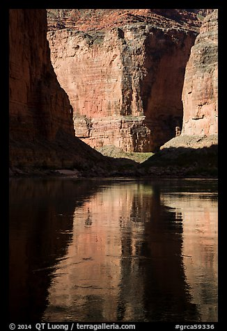 Shadows and reflections, Marble Canyon. Grand Canyon National Park (color)