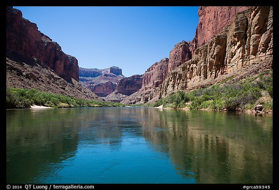 Cliffs and reflections, Marble Canyon. Grand Canyon National Park (color)