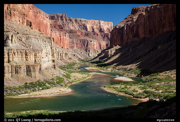 Colorado River at Nankoweap, afternoon. Grand Canyon National Park (color)