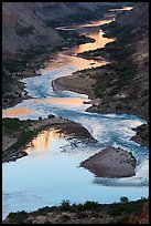 Reflections on the meanders of the Colorado River, Nankoweap. Grand Canyon National Park ( color)