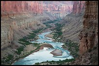 Colorado River at Nankoweap, dusk. Grand Canyon National Park ( color)