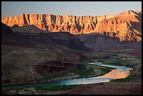 Palissades of the Desert and Colorado River. Grand Canyon National Park ( color)