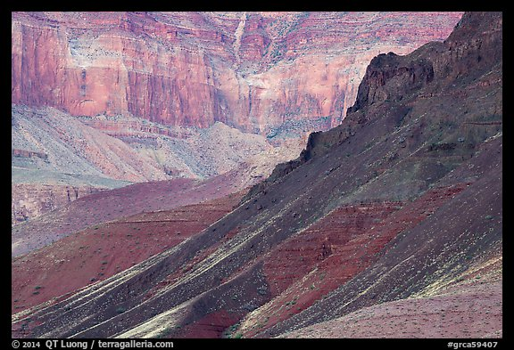 Slopes and cliffs, Escalante Butte. Grand Canyon National Park (color)