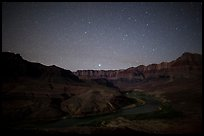 Palissades of the Desert at night. Grand Canyon National Park ( color)