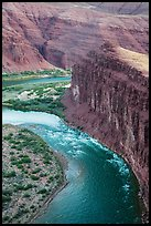 Unkar Rapids and Colorado River from above. Grand Canyon National Park ( color)