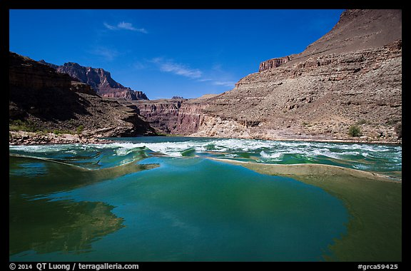 Current preceding rapids. Grand Canyon National Park (color)