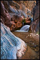 Clear Creek Canyon with waterfall. Grand Canyon National Park, Arizona, USA.
