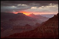 Stormy sunrise. Grand Canyon National Park ( color)