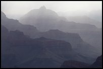 Canyon ridges and weather. Grand Canyon National Park ( color)