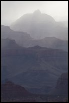 Backlit canyon ridges. Grand Canyon National Park ( color)