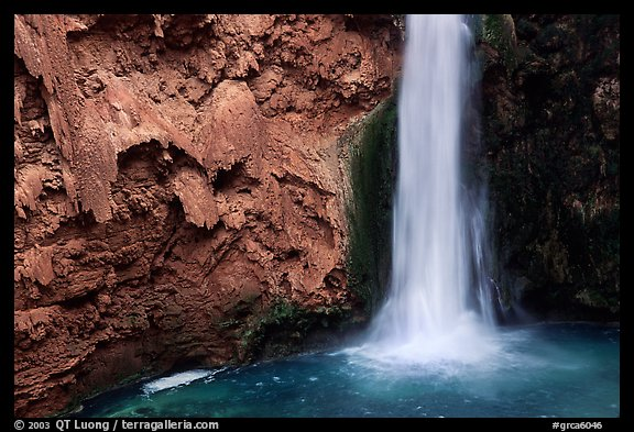 Pool and base of Mooney falls. Grand Canyon National Park (color)