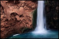 Pool and base of Mooney falls. Grand Canyon National Park, Arizona, USA. (color)