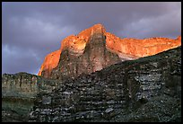 Canyon walls seen from Tapeats Creek, sunset. Grand Canyon National Park ( color)