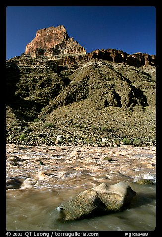 Rapids in  Colorado river, morning. Grand Canyon National Park (color)