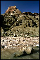 Rapids in  Colorado river, morning. Grand Canyon National Park ( color)