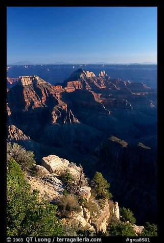 View from Bright Angel Point. Grand Canyon National Park (color)