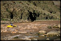 Rafting on  Colorado River. Grand Canyon National Park, Arizona, USA. (color)