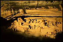 Cliff Palace, largest Anasazi cliff dwelling, afternoon. Mesa Verde National Park ( color)