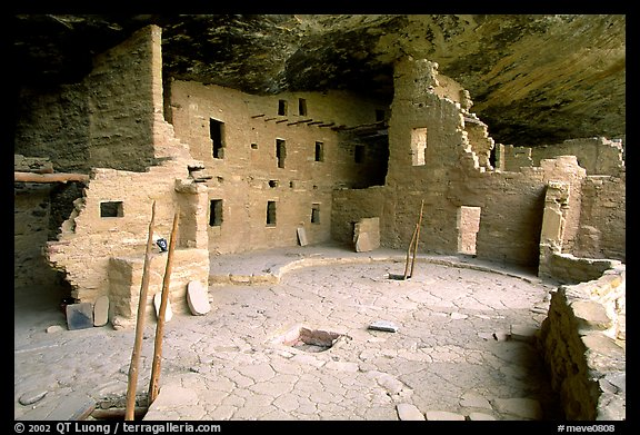 Spruce Tree house, ancestral pueblan ruin. Mesa Verde National Park (color)