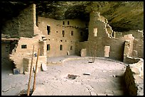 Spruce Tree house, ancestral pueblan ruin. Mesa Verde National Park, Colorado, USA. (color)