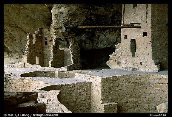 Long bean in Balcony House. Mesa Verde National Park (color)