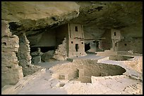 Kiva in Balcony House. Mesa Verde National Park ( color)