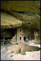 Kiva in Balcony House. Mesa Verde National Park, Colorado, USA. (color)