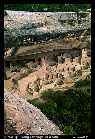 Cliff Palace, late afternoon. Mesa Verde National Park (color)